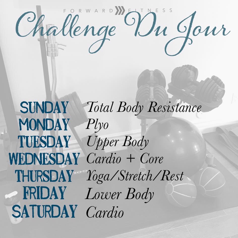 Challenge Du Jour Workout Schedule