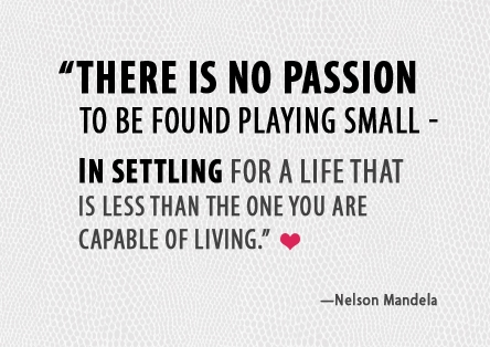 NEVER SETTLE FOR LESS THAN WHAT YOU ARE CAPABLE OF.