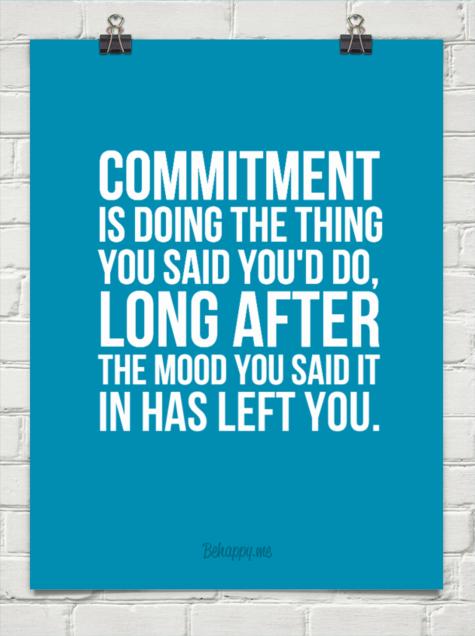 Commitment- Shift Shop test group