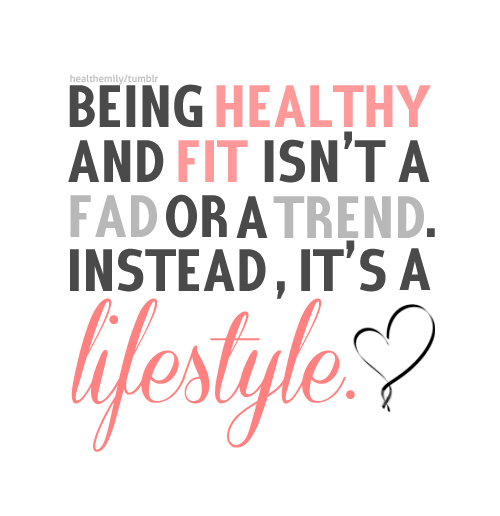 being healthy is a lifestyle change