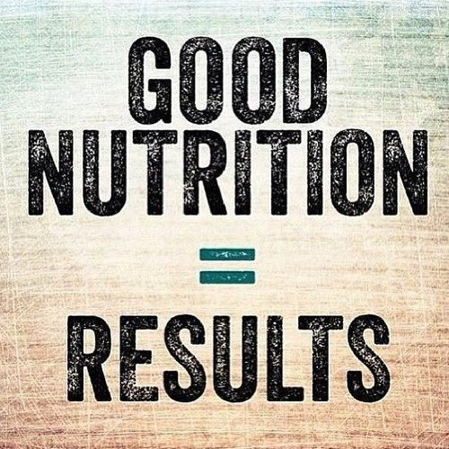 GOOD NUTRITION EQUALS RESULTS