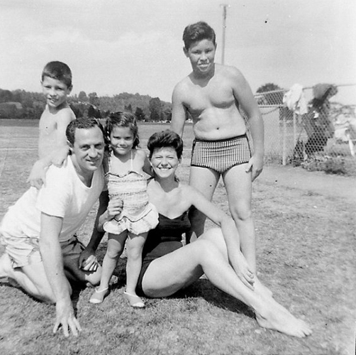 Author's mom's family at a bungalow colony, Wawarsing, NY