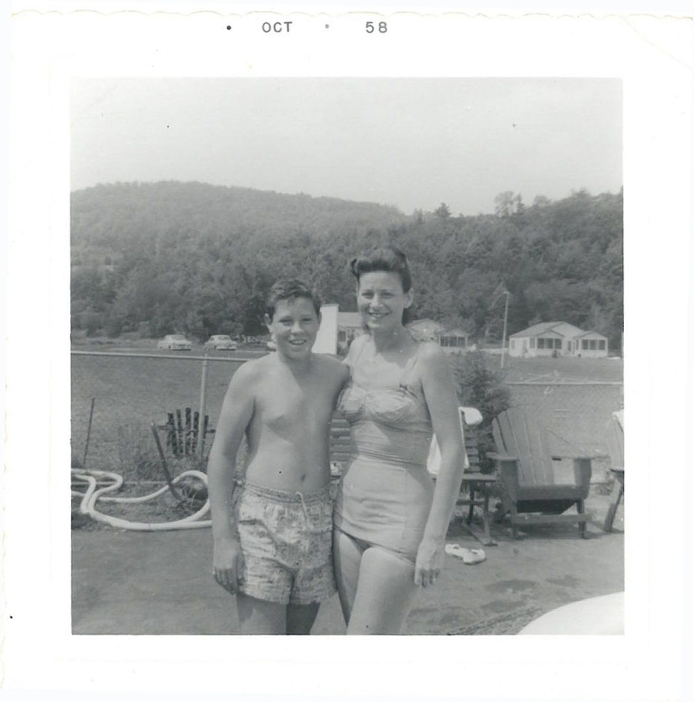 Author's uncle and Grandmother, Wawarsing, NY