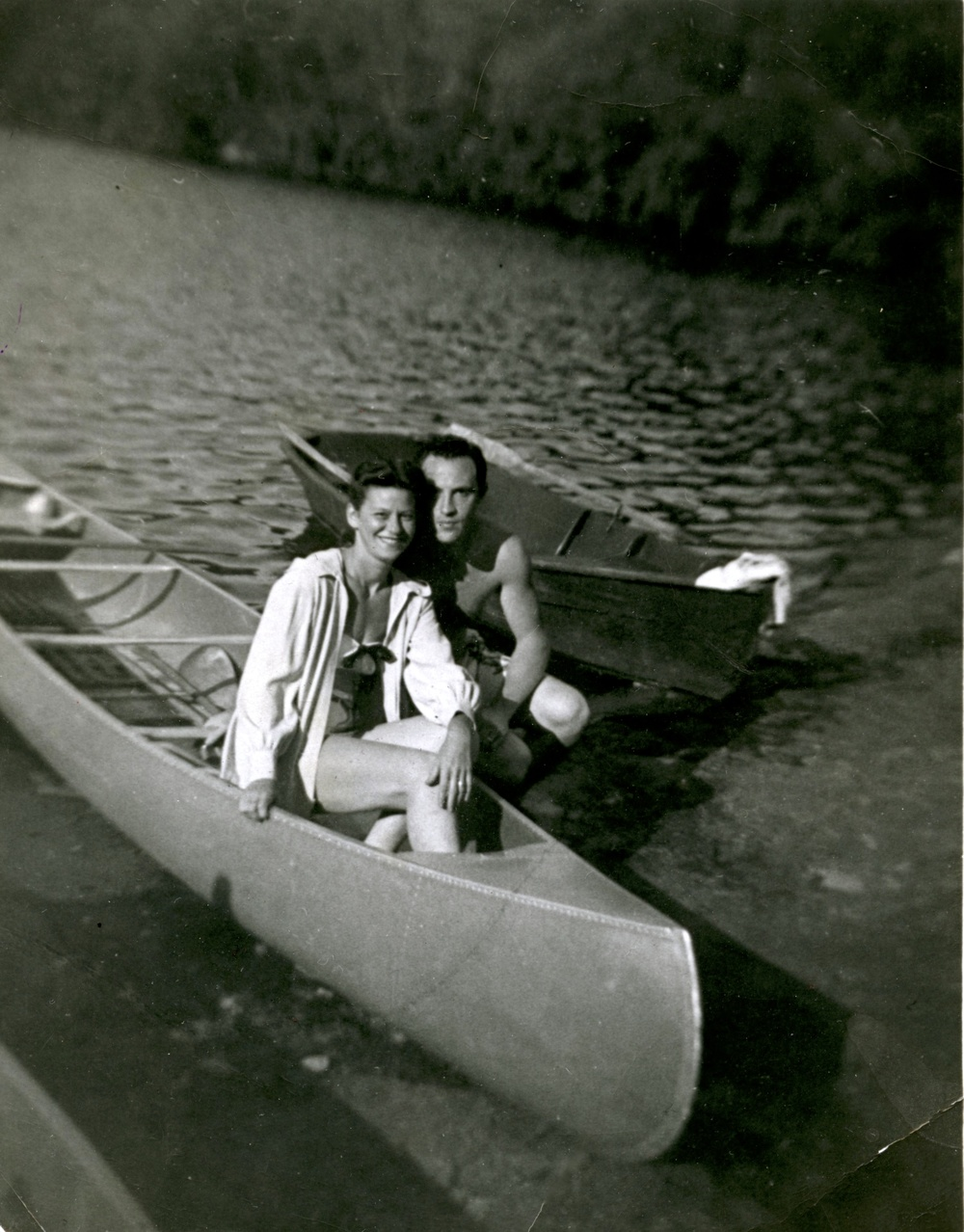 The Author's Grandparents on their honeymoon at the Nevele