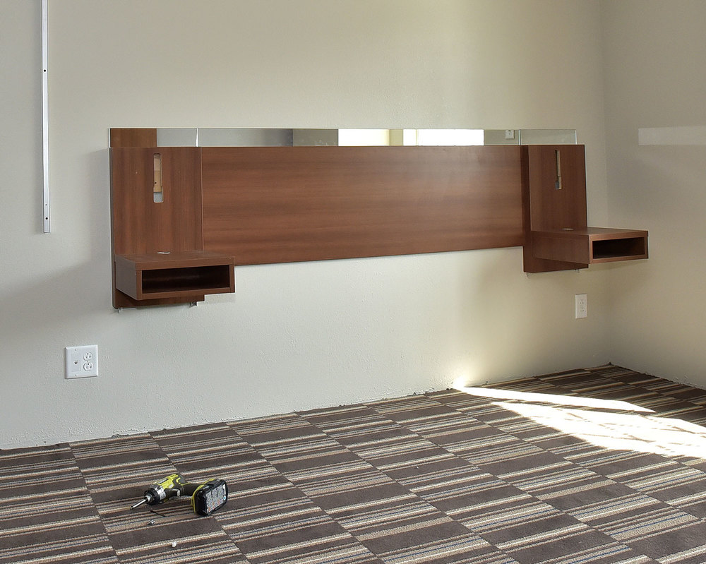 SINGLE ROOM HEADBOARD INSTALLATION COMPLETE
