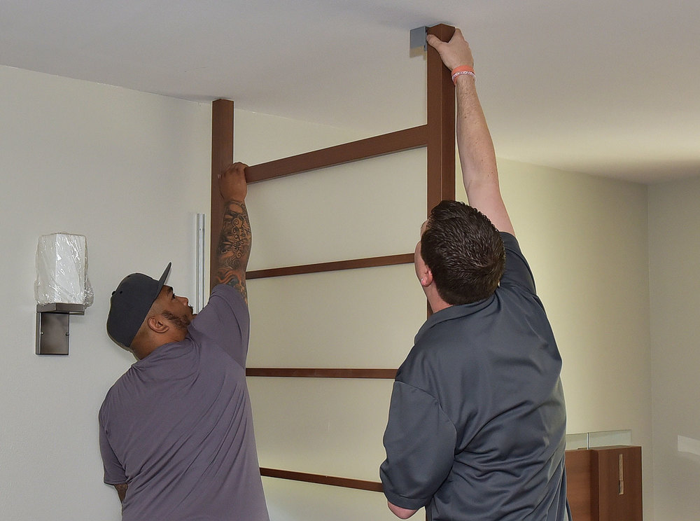 SUITE WALL UNIT INSTALLATION