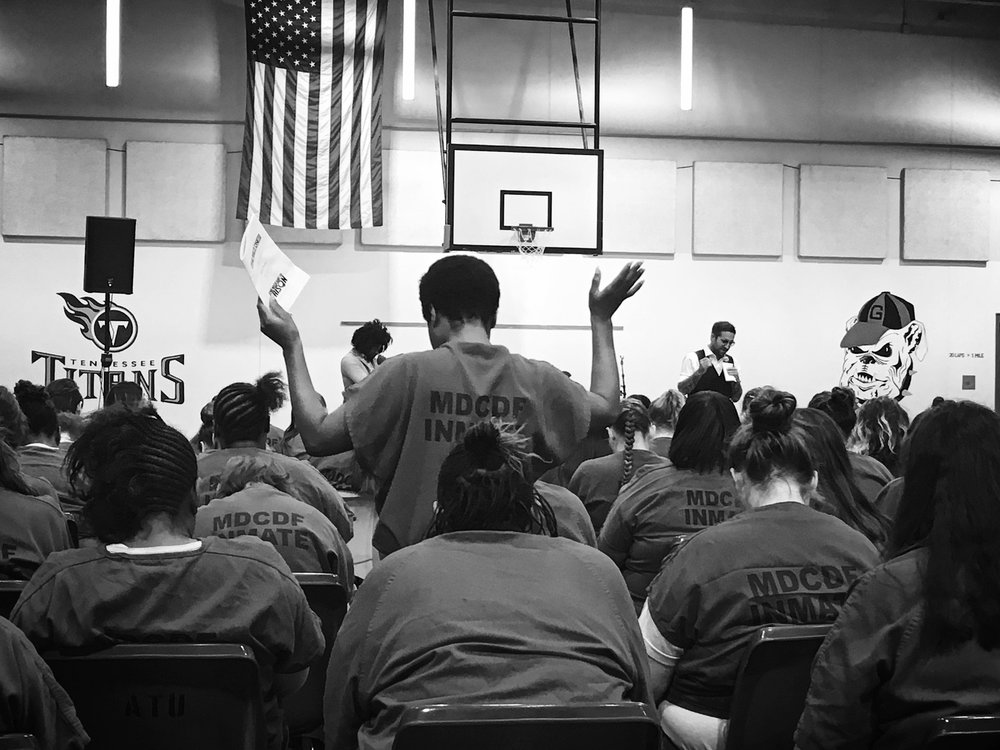 "Concert In Women's Corrections for our weekly ""Wild Ones"" Program"