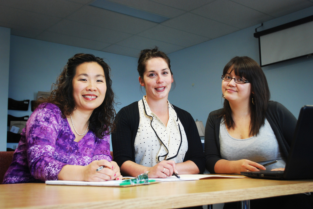 NorthBeat Project Team  (from left to right):  Dr. Chiachen (Chi) Cheng , Principal Investigator of the NorthBeat Project;  Shevaun Nadin , Project Coordinator;  Carole Lem , Research Assistant