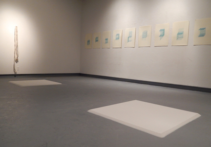 Recollection Lost  (gallery view) , 2015,screen prints, sugar, upholstery batting