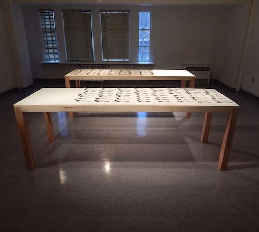 The Best of All Choices  (gallery view), 2015, wood, sugar, spoons, audio