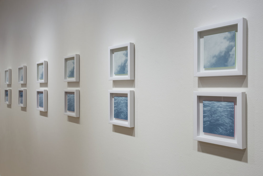 "Sky/Sea, screen prints, edition of 10, 10"" x 20"" each, 2017"