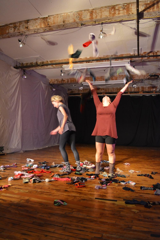 """Sock Piece"" with Irina Varina photographed by David Brick"