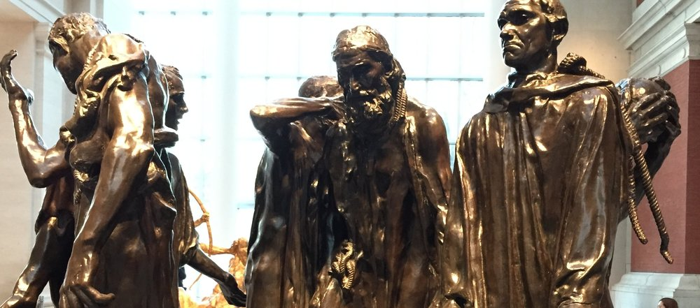 The Burghers of Calais by Auguste Rodin at the Metropolitan Museum of Art in NYC