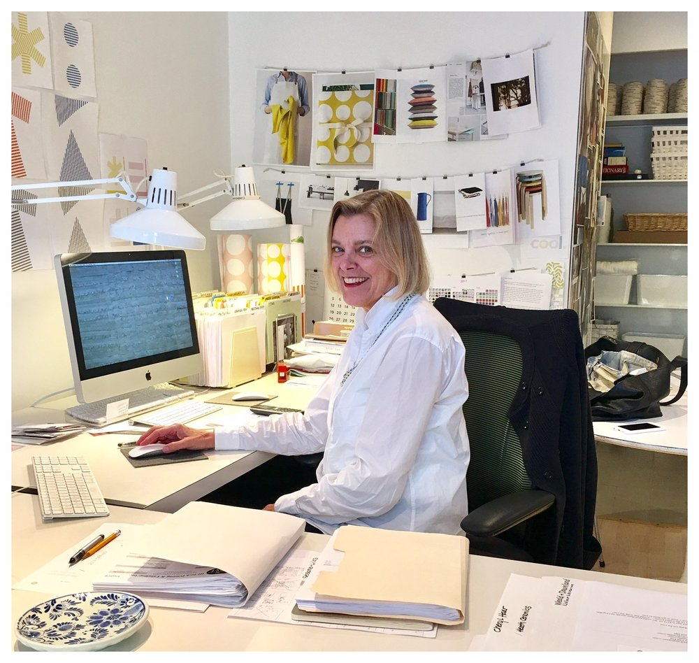 The talented, interesting, and fun Christina Weber (shown here in her  studio )