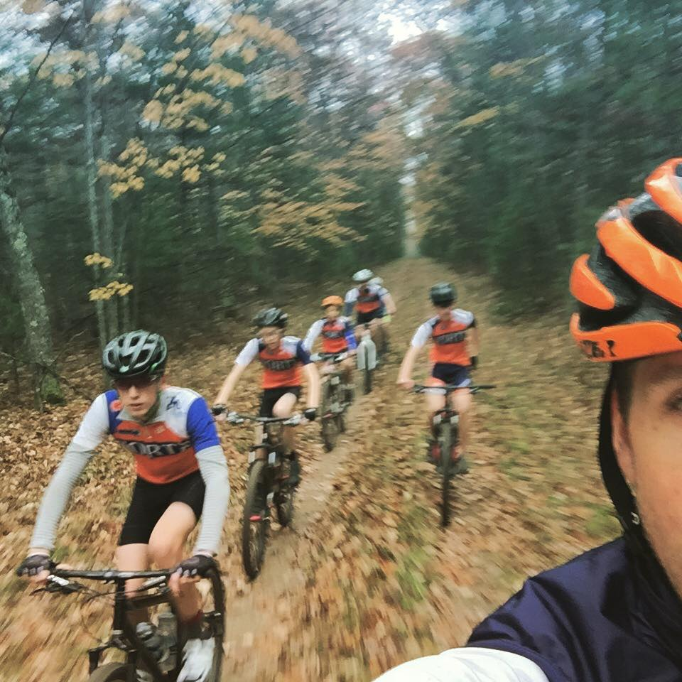 On bikes. In the woods. Way better than on the couch. Yep. Way better.