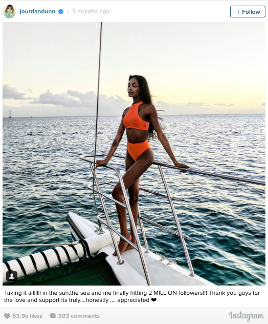 The sporty cut seen on Jourdan Dunn: House of CB Maryska Orange Halter Bikini ($75).