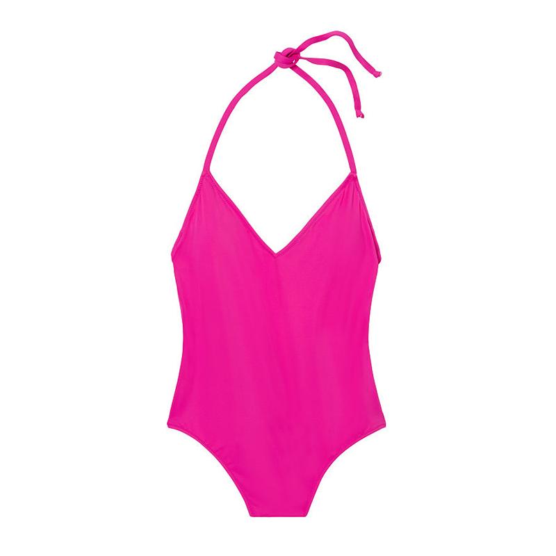 Plunge One-Piece,Victoria's Secret PINK $50