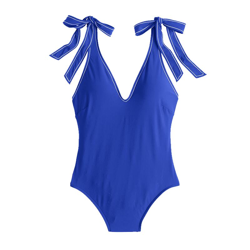 Shoulder-Tie One-Piece Swimsuit,J. Crew $98