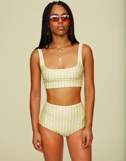 Reformation  Hacienda Bikini Top,$78.00,available at  Reformation ; Reformation  Mandalay Bikini Bottom,$78.00,available at  Reformation .