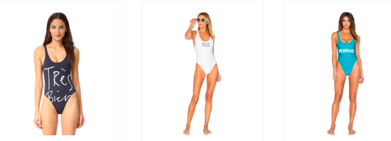 CHRLDR Tres Bien shopbop.com  REVOLVE Milly One-Piece Swimwear Private Party Mermaid REVOLVE