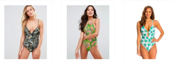 Asos French Connection One-Piece Swimwear Asos Pink Palm Peixoto Swimwear  Swimoutlet