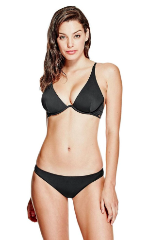b7c83831df66f Start with a basic boost from Guess's Underwire Bikini Top ($49), which will  add at least one cup size thanks to the padding. Get flirty in ...