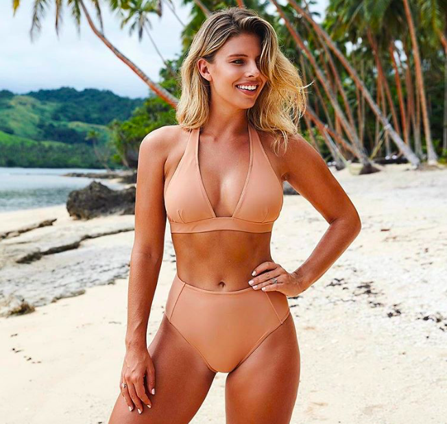 "Call it the ""naked suit"" if you will, but there's nothing overtly sexy about a design that complements your glowing tan. Choose your favorite type of separates that you feel most comfortable in — whether that's a halter-style top or a bandeau, a cheeky bottom or a retro, high-waisted cut — and match to your skin tone. It'll be your one #noregrets bikini that stays in style (and in rotation!) year after year."