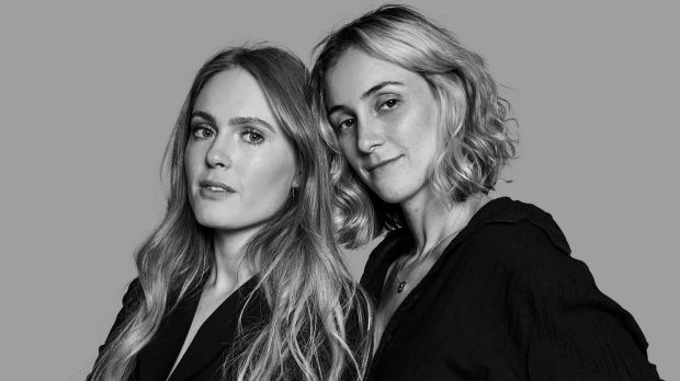 Carly Warson (left) and Stephanie Korn, founders of The Fold swimwear, started their label when they couldn't find swimwear to suit their own bodies.Photo: Supplied