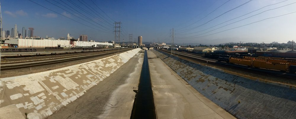 The Los Angeles River, just east of Fourth St., near the Arts District downtown