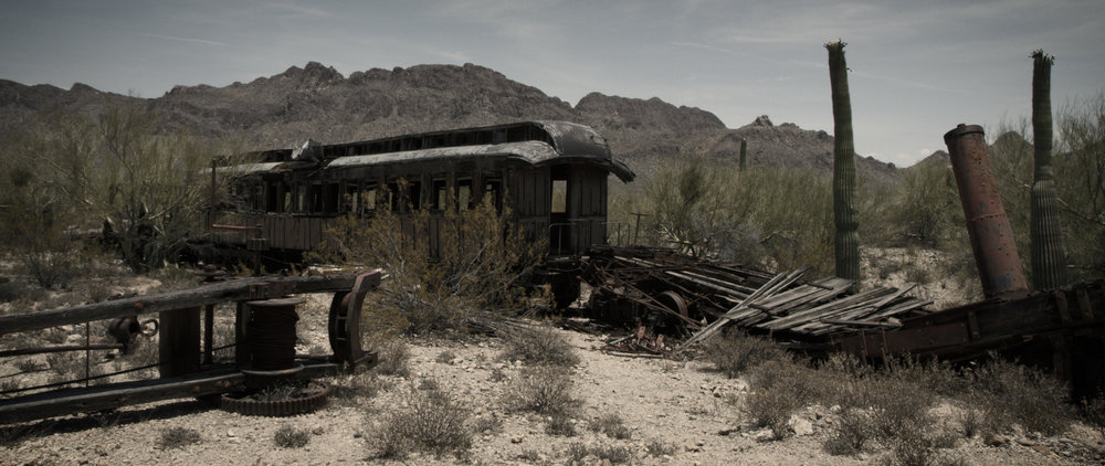An abandoned train car from the 1800s