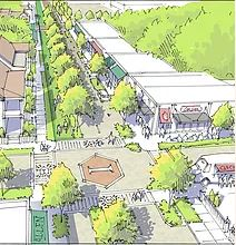 Conceptual drawing of a re-designed Norwich Street. Source: CNU Savannah.