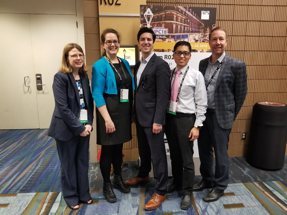 Sara with her fellow presenters at APA in New Orleans, April 2018.