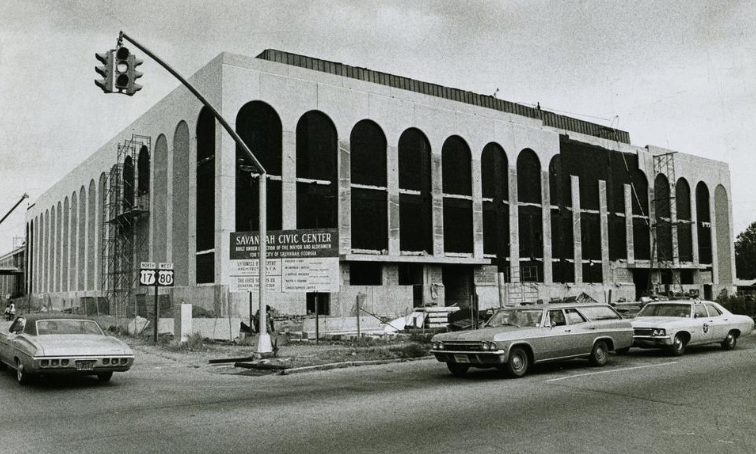 Savannah's Civic Center under construction. Source: Savannah Morning News.