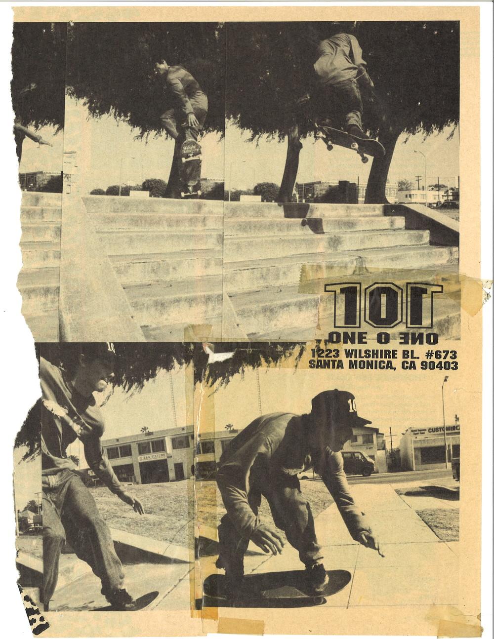 Dwindle Heritage 101 Skateboards Original Gabriel Rodriguez Jesus ad 1991