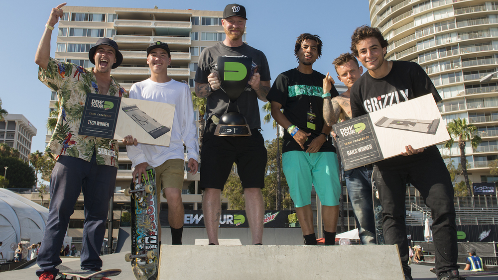 Blind skateboards team win dew tour challenge tj rogers trey wood bill weiss kevin romar cody mcentire micky papa