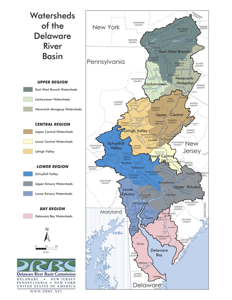 Coalition For The Delaware River Watershed The Watershed - Delaware river on us map