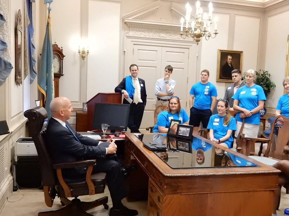 Clean water advocates meet with Governor Jack Markell