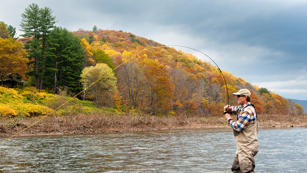 The Delaware River supports an internationally renowned cold water fishery in more than 80 miles of its northern headwaters that attracts tens of thousands of visitors each year and generates over $21,000,000 in annual revenue through tourism and recreational activities. Photo courtesy of Friends of the Upper Delaware