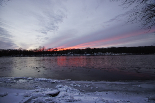 Another beautiful photo taken by Karen Harmon of the Delaware River in Frenchtown, NJ.