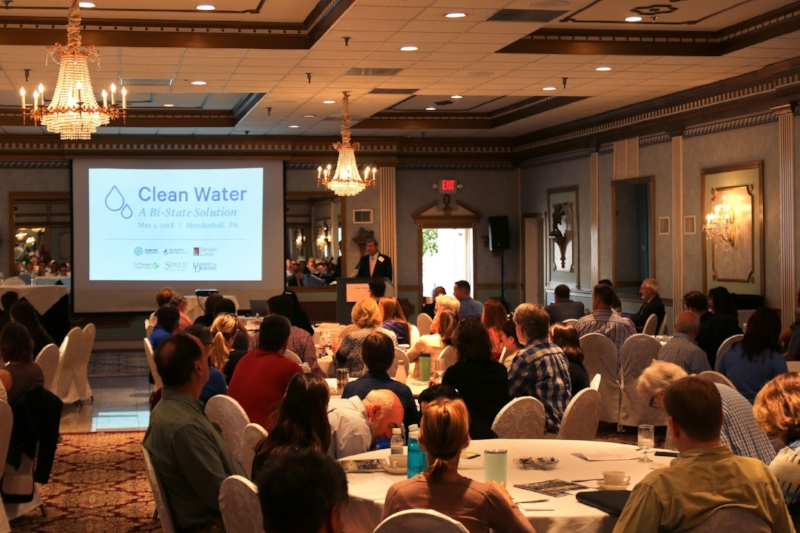David Shields (Brandywine Conservancy) providing opening remarks at the Clean Water: A Bi-State Solution conference on May 3, 2018 at Mendenhall Inn. Photo Credit: Andrew Stewart