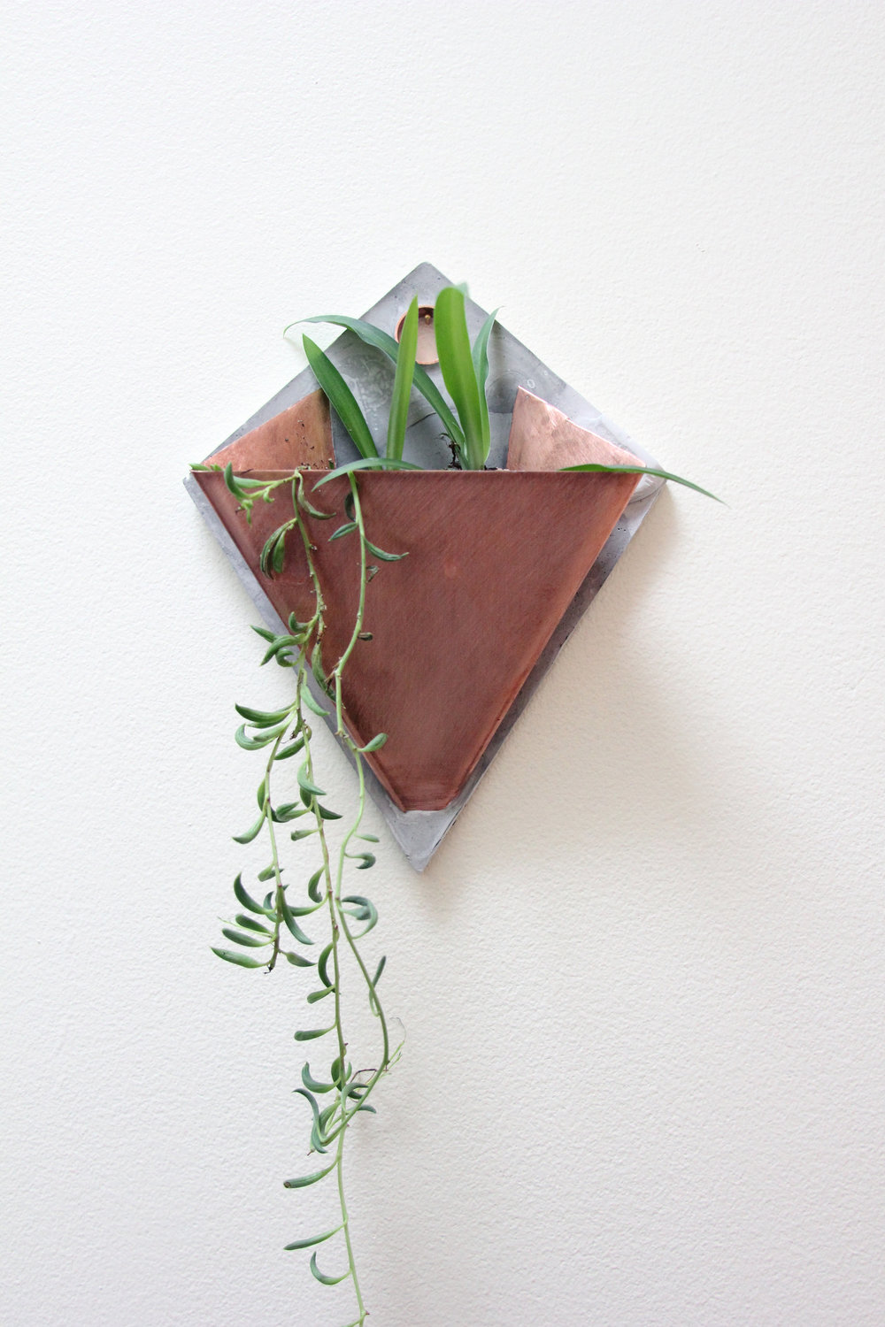 """Ternion III"" Copper + Cement Planter 7"" w x 9"" h $115 Made to Order"
