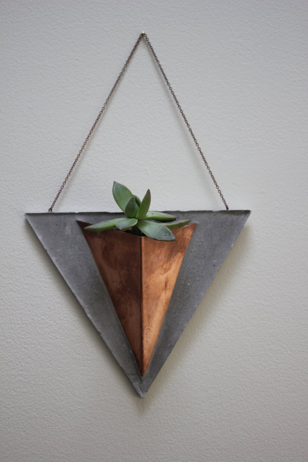 """Ternion"" Copper + Cement Planter 7"" w x 12"" h 1/$40 or 2/$75 Made to Order"