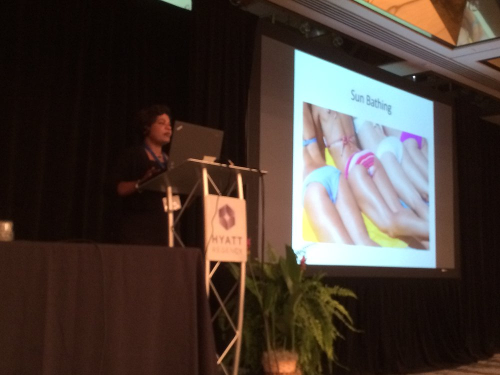Dr. Sherine Talk at the International Burns conference at Miami