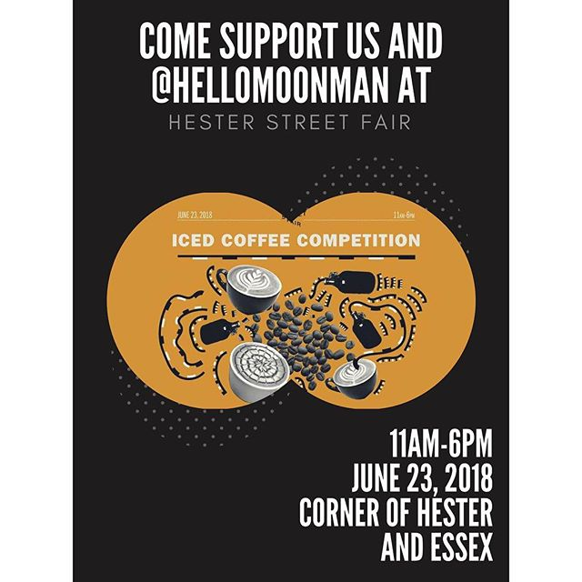 Come see us tomorrow at the Hester Street Fair and vote (Kopi)!! We're teaming up with @hellomoonman to bring you coffee and coconut pancakes - ice cold coffee and hot caramelized coconut pancakes. Can't wait to see you there!! 😋🤤☕️🥞 Go to this link for more info: https://www.facebook.com/events/438571146596563/  #hesterstreetfair #icedcoffee #competition #coffeelover #coldbrew #pancakes #nyc #delicious #vote #coffeeandpancakes #whowillwin #bethereorbesquare