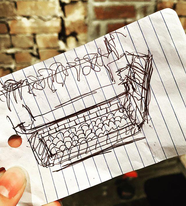 Ballpoint pen on paper — a study for coffee bar #art