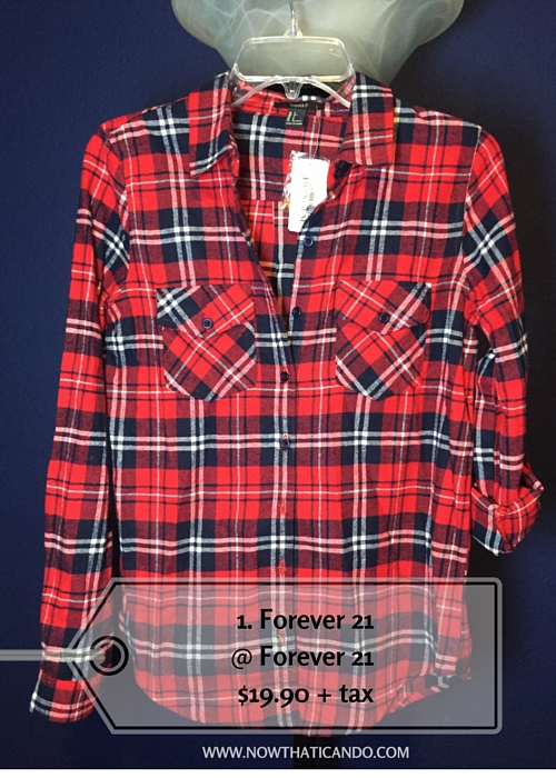 Navy/red plaid, Forever 21 @ Forever 21 (Exact) -- $19.90 + tax