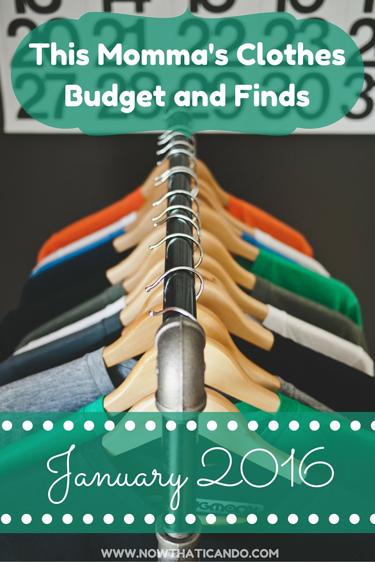 This Momma's Budget and Finds: January 2016