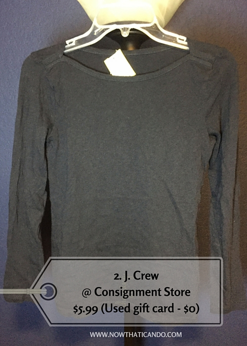 Navy, J. Crew @ Consignment Store (Similar) -- $5.99 (Used gift card - $0)