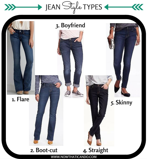 The top 5 types of trending jeans