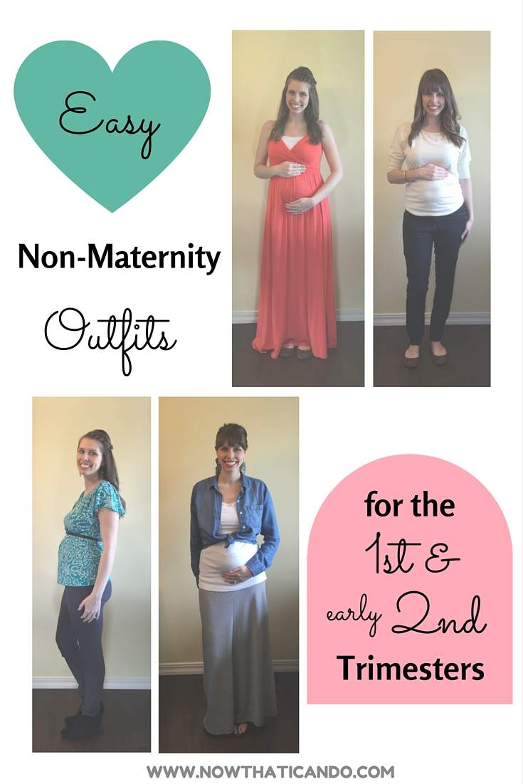 Dressing your bump during the first and early second trimesters can seem like an awkward stage-- when your normal clothes fit but they make you feel fat instead of cute and pregnant! Click through for a few easy tips for using non-maternity clothes to flatter your early bump.
